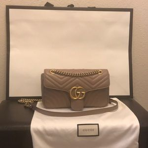 Gucci Marmont Small Matelasse Leather Shoulder Bag
